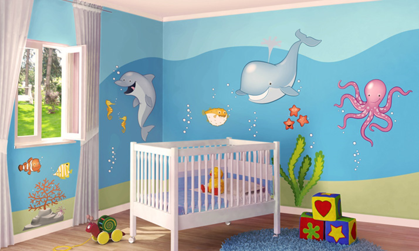 Stickers murali bambini cameretta in fondo al mare for Decorazioni per camerette